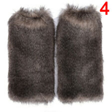 New Women Fluffy Fuzzy Faux Fur Fashion Dance Leg Warmers Muffs Boot Covers TH