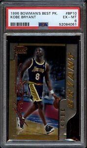 1996 Bowman's Best Picks Kobe Bryant Los Angeles Lakers Rookie Card PSA 6