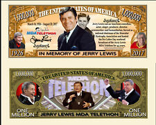 Jerry Lewis Million Dollar Bill Collectible Fake Play Funny Money Novelty Note