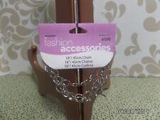 """Fashion Accessories 18""""/45cm. CHAIN with Toggle Closure - Silver Color - NEW"""