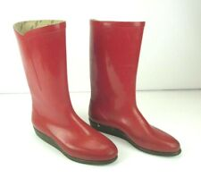 Nokia Women Red Rubber Boots Size 37 Finland Vintage Retro