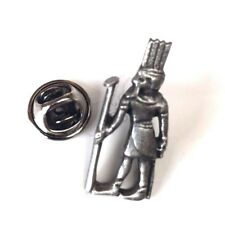 shu Egyptian Handcrafted From English Pewter Lapel Pin Badge