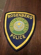 Texas Police -  Rosenberg  Police TX  Police  Patch