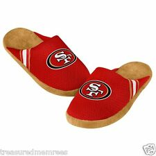 NFL San Francisco 49ers Team Jersey Indoor/Outdoor Slippers ~ Size LRG (12-13)