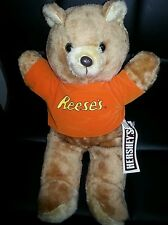 "Vintage 1980s Hershey's Reese's Plush 16"" Teddy Bear Stuffed Animal Acme w/Tag"