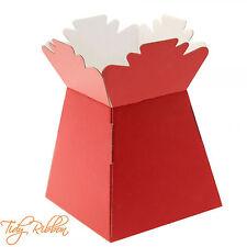 Red Living Vase Bouquet Flower Box Gift Sweet Florist Presentation Transporter