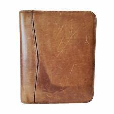Day Timer Brown Distressed Genuine Leather 7 Ring Zip Binder Daytimer 925x1125