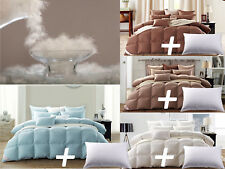 White Goose Down Comforter Size with One Goose Feather Pillow
