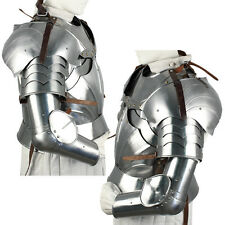 Renaissance Crusader Complete Medieval Knight's Arms 18G Polished Armor Set