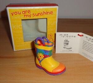 Deko Kinder Gummistiefel Just The Right Shoe You´re my Sunshine selten NEU