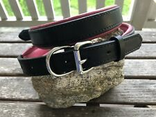 New listing Perri's Padded Dog Collar Leather Black/Pink Padding Size Xl