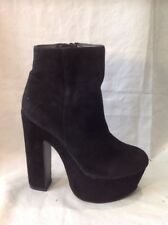 River Island Black Ankle Suede Boots Size 4