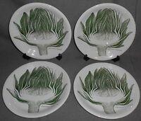 Set (4) Gustavsberg ARTICHOKE PATTERN Luncheon Plates MADE IN SWDEN