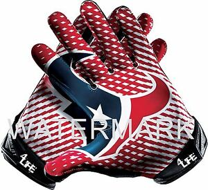 """Houston Texans 4Life 6"""" Car Window Or Wall Vinyl Glossy NFL Glove Decal Stickers"""