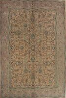 Vintage Floral Traditional Oriental Area Rug Wool Hand-Knotted 7x10 Peach Carpet