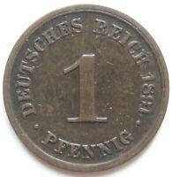 Superior! 1 Peniques 1891 D En Very fine