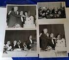 Lot of 4 - Real photo VP Lyndon Johnson LBJ Dinner 1962  Italian Board Guardians