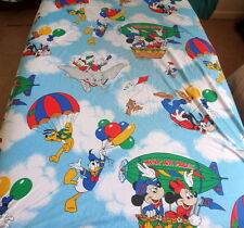 Mickey Mouse Twin Sheet Set Hot Air Mobile Balloon Flat Fitted Sheet pillowcase