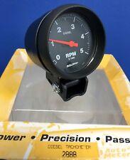"Auto Meter 2888 Diesel Tachometer Mini Tach 5000 RPM Black Pedestal Mount 2 5/8"""