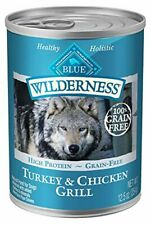 Blue Buffalo Wilderness High Protein Grain Free, Natural Adult Wet Dog Food, Tur