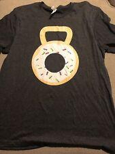 Mens Crossfit Kettle Bell Donut Shirt Xl