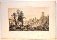 Stampa antica PARIGI PARIS cimetière du Père-Lachaise 1861 Old antique print