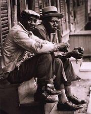ART PRINT African American Men Sitting on Stoop Charleston SC 1962