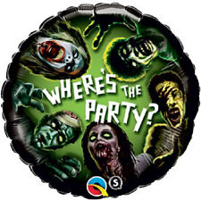 HALLOWEEN ZOMBIE WHERE'S THE PARTY FOIL BALLOON PARTY DECORATION 43CM ZOMBIES