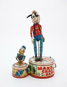 Marx Crazy Dancer Goofy & Donald Duck - Tin Toy Wind-up Clockwork