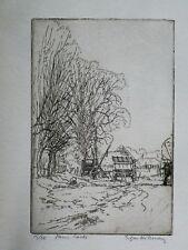 Edgar Holloway (1914-2008) Signed original etching - Full provenance