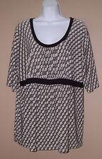 Womens Plus Size 16W 1X Short Sleeve Casual Summer Fashion Blouse Top Shirt