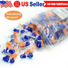 New Listinghearing Protection Earplugs Soft Silicone Corded Ear Plugs Reusable 29db Lot Usa