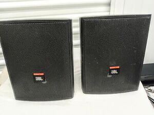 Pair of JBL Control 25 Indoor Outdoor Background Foreground Loudspeakers.