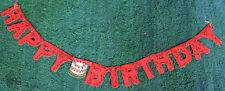 1950s Log Shaped  5ft  HAPPY BIRTHDAY Garland / Banner Environmentally Friendly