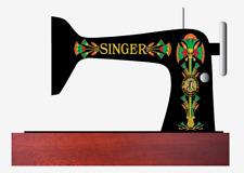 Singer Model 66 Sewing Machine Lotus Style Restoration Decals Multi Color