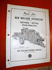 Up To 1952 New Holland 75 Self Feeding Tying Pick Up Baling Press Parts List