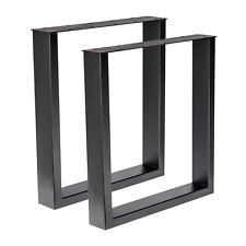 1 Paar Tischgestell Stahl schwarz gepulvert TUG 305 Tischuntergestell