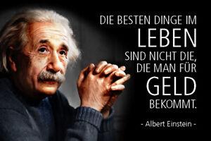 Albert Einstein Spruch 37 Blechschild Schild gewölbt Metal Tin Sign 20 x 30 cm