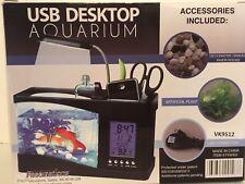 USB Desktop Aquarium Mini Fish Tank With Running Water Fascinations Brand NIB