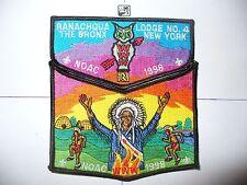 OA Ranachqua Lodge 4,1998 NOAC,Indian Chief 2 Part Set,Greater New York,Bronx,NY