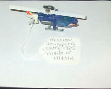 1985 MATCHBOX MISSION HELICOPTER BLUE MACAU NM LOOSE Diecast 5+