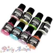 Rainbow Dust Metallic Food/Cake Paints Set of 8 - Just Pearlescent Colours-