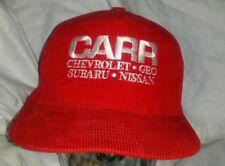 Carr Chevrolet Geo Subaru Nissan Red Corduroy Trucker Snapback Hat Cap A4