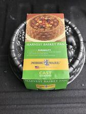 Nordic Ware Marianne Harvest Basket Cake Pan Cast Aluminum Nonstick Mold