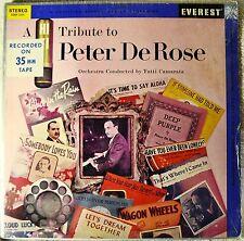 Tutti Camarata Tribute to Peter DeRose LP Vinyl Orig ST SEALED Piano Pop Instro