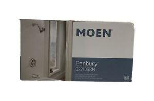MOEN Banbury Single-Handle 1-Spray 1.75 GPM Tub/Shower Faucet Brushed Nickel