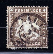 Württemberg 1861 Mer # 16y carta sottile Mer € 320,-
