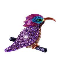 Crystal brooch PURPEL Rhinestone Hummingbird Brooch mum BIRTHDAY Christmas 161