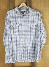 Billabong men's L long sleeve plaid shirt button down