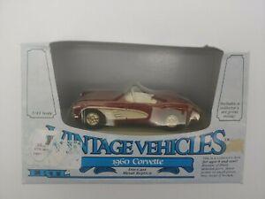 1988 Ertl Vintage Vehicles 1960 Corvette Die Cast Metal 1/43 Scale NEW